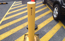 steel parking bollards